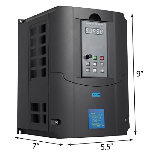 VEVOR Variable Frequency Drive Inverter 7.5 KW 380V VFD For Spindle Motor Speed Control 10HP 7.5KW Speed Control AVR Technique (7.5KW 380V)