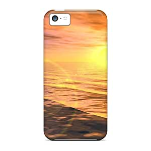 BlG21256MqGy Faddish Jumping Dolphins At Sunset Cases Covers For Iphone 5c