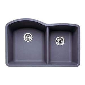 Blanco 511 708 diamond 1 34 bowl kitchen sink metallic gray finish blanco 511 708 diamond 1 34 bowl kitchen sink metallic gray workwithnaturefo