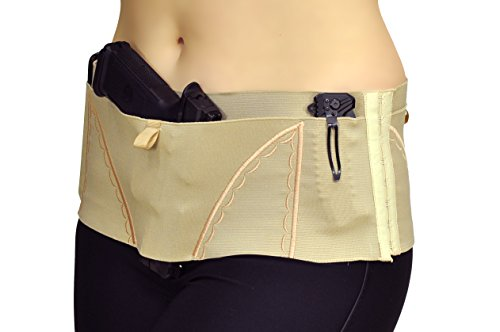 Can Can Concealment Hip Hugger Big SheBang Woman's Holster - Champagne