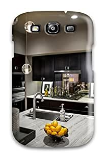 Slim New Design Hard Case For Galaxy S3 Case Cover Kitchen With Globe Pendant Lights And Lemons For Decoration
