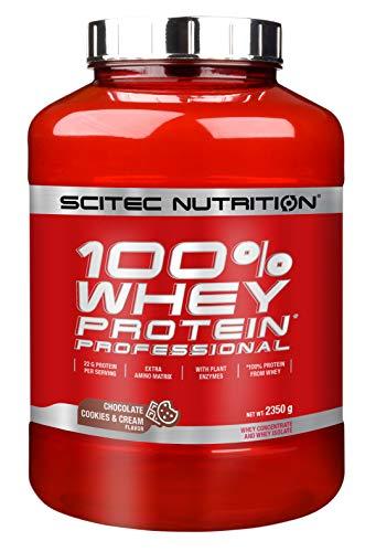 Scitec Nutrition 100% Whey Protein Professional con aminoácidos clave y enzimas digestivas adicionales, 2.35 kg…