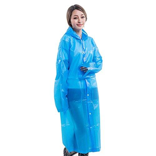 Manteau EVA Pluie Impermable Longue Bleu Utilisation Transparent Portable Impermable ImpermableMode Environnementale Lgre Poncho Rokoo Femmes aEROw
