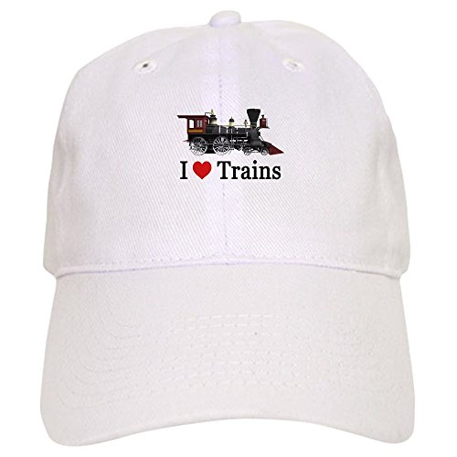 CafePress Love Trains - Baseball Cap with Adjustable Closure, Unique Printed Baseball (Amtrak Train Engineer)