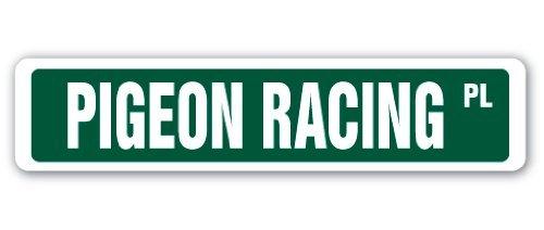 Pigeon Racing Street Sign Race Racer Bird Coop Carrier Message Supplies (Pigeon Racer)