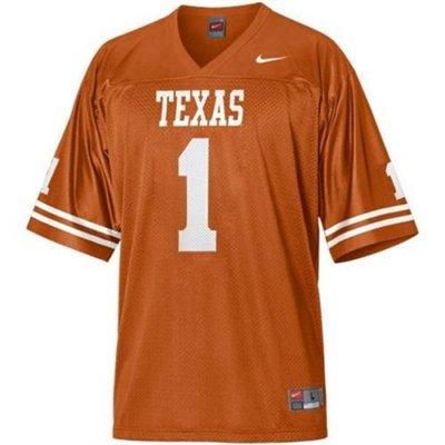 Texas Longhorns Youth #1 Nike Football Jersey (Youth (Texas Youth Replica Football Jersey)