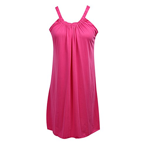 Women Summer Chiffon Loose Dress Red XL - 2