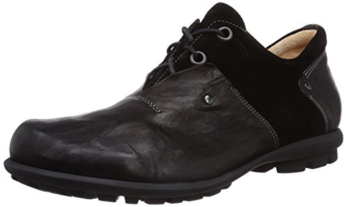 Pensare! Kong Uomini Derby Lace Up Brogue Nero (sz / Kombi 09)