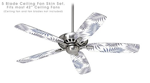 Palm Ceiling Fan Blade Covers (Palms 02 Purple - Ceiling Fan Skin Kit fits most 42 inch fans (FAN and BLADES NOT INCLUDED))