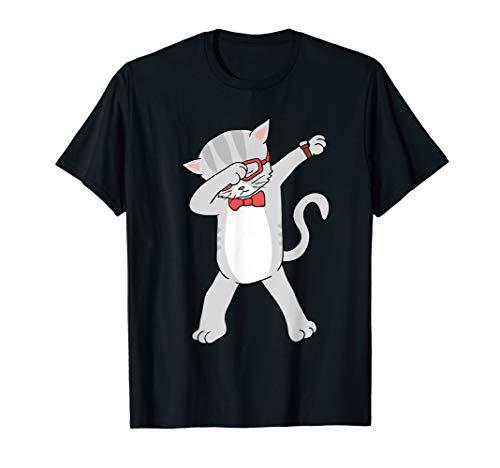 Dabbing Cat T-Shirt Funny Dab Gift Cat Tee