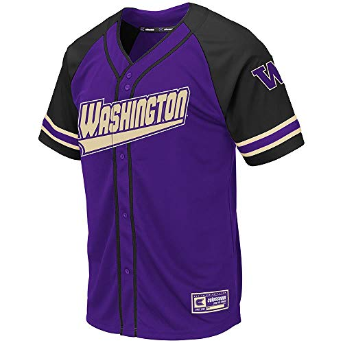 Colosseum Mens Washington Huskies Wallis Baseball Jersey - ()