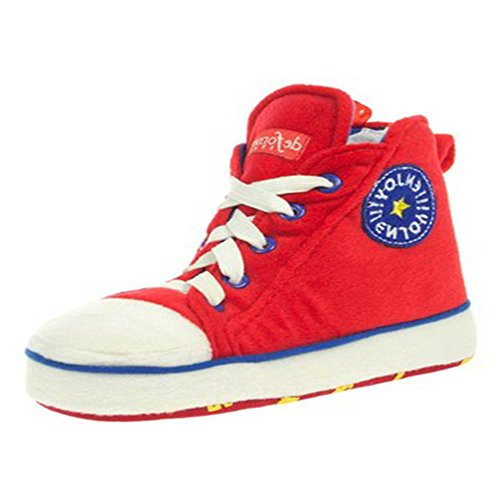 Men's Women's Unisex Chuck Taylor Style Novelty Converze Slippers Hi Top Boots New Red YDm34