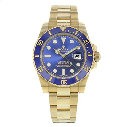 Rolex Men's Submariner Automatic Blue Dial Oyster 18k Solid Gold ()