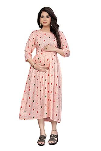 SKY FAB Women Rayon A-Line Maternity Feeding Dress