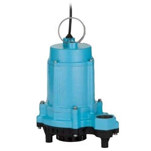 6EC-CIM 1/3 HP, 53 GPM - Manual Submersible Sump Effluent Pump, 20 ft power cord