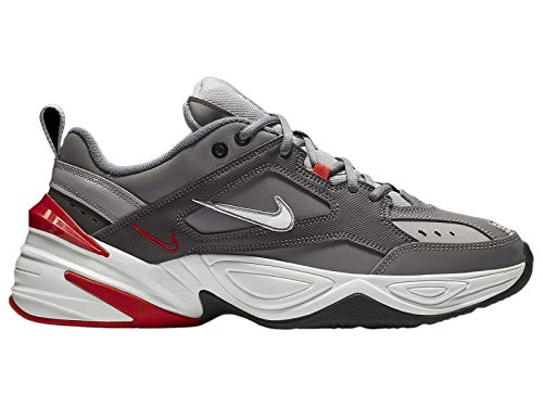 Nike Men's M2K Tekno Gunsmoke/Summit White/Natural Heather Synthetic Cross-Trainers Shoes 10 M US