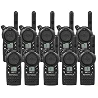 10 Pack of Motorola CLS1110 Two Way Radio Walkie Talkies (UHF)