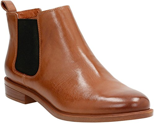 Clarks - Womens Taylor Shine Boot, Size: 10 C/D US, Color: Tan Leather