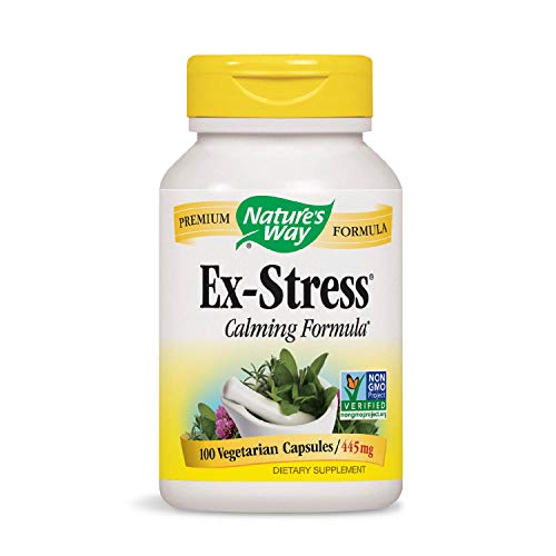 (Nature's Way Ex-Stress Calming Formula, 445 mg, 100 Vcaps (Packaging May Vary))