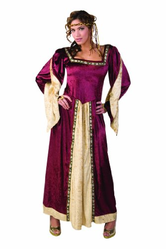 Robin Hood And Maid Marian Costumes (RG Costumes Women's Maid Marian, Burgundy, One)
