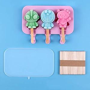 ZASEA Casa stampi Popsicle Silicone Muffa Crema del Fumetto Mini ghiaccioli Ghiaccio for Bambini Realizzato in Silicone… 6 spesavip