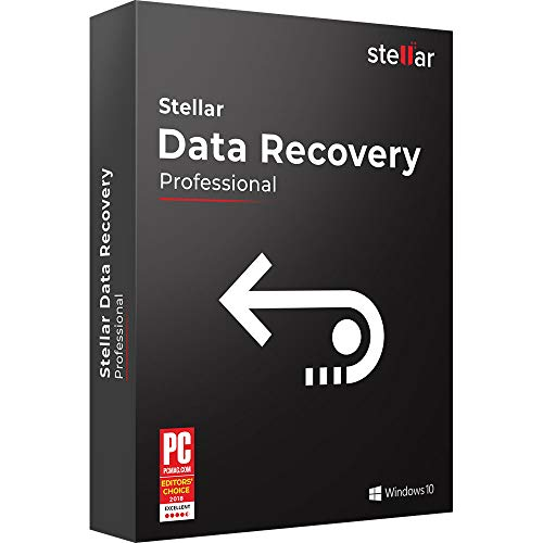 Stellar Data Recovery Software v9.0 | For Windows | Professional | 1 PC 1 Yr | Activation Key Card