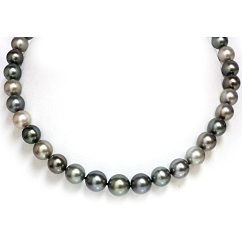 14K Gold - Tahitian South Sea Pearl Necklace 13 - 10 mm Multi Color AAA (Mikimoto Tahitian Pearls)