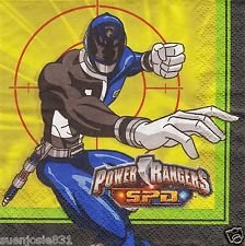 Power Rangers Space Patrol Beverage Napkins - 48 Count