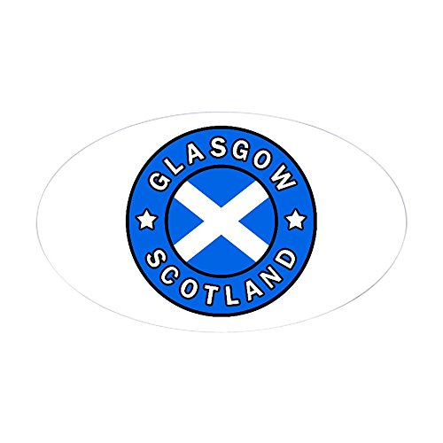 CafePress Glasgow Scotland Oval Bumper Sticker, Euro Oval Car Decal