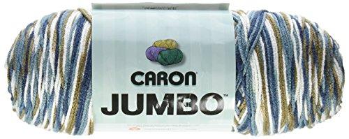 Caron Jumbo Prints Yarn, 12 Ounce, Country Basket, Single Ball