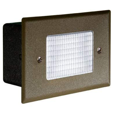 Dabmar Lighting LV-LED618-BZ 2.5W & 12V JC-LED Recessed Open Face Brick44; Step & Wall Light - Bronze Cover