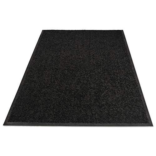 (Guardian Platinum Series Indoor Wiper Floor Mat, Rubber with Nylon Carpet, 4'x6', Black)
