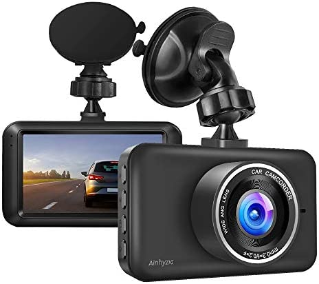 Dash Camera 1080P Full HD Resolution 3 Screen Car Driving Recorder with Night Vision,140 Wide Angle Car Camera with Parking Monitor,Motion Detection,Loop Recording Dashboard Camera