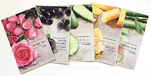 Nature Republic Real Nature Mask Sheet 10pcs Original Korean Mask Sheet from Nature Republic