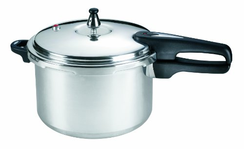 Mirro 92180A Polished Aluminum 10-PSI Pressure Cooker Cookware, 8-Quart, Silver by Mirro (Image #1)