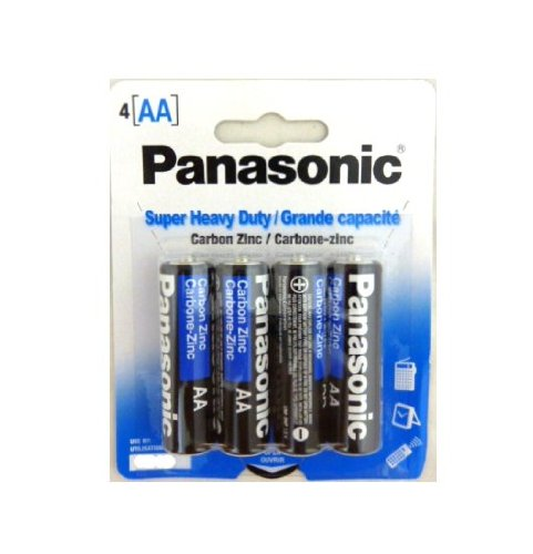 48 Pack Panasonic Super Heavy Duty AA Batteries Retail Packa