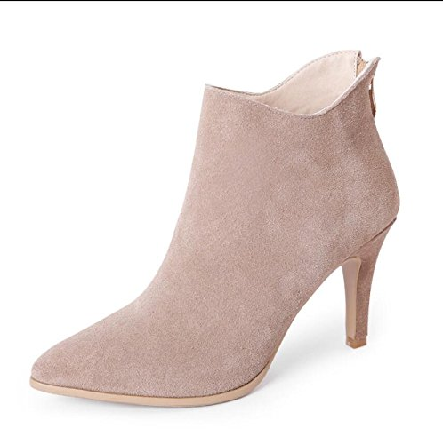 E Crudo Martin heeled Botas Un High 7 Hembra Punta 5cm color Zapatos Mujer Otoño Khskx De Fina 39 Desnudo Único Con Invierno 37 Matt 5xqSwR7c