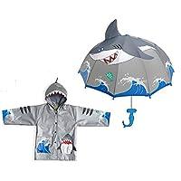 Kidorable Shark Raincoat with Umbrella