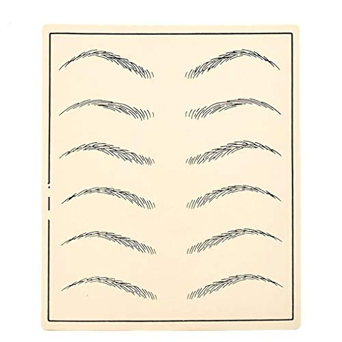(IHIGGG Tattoo Practice Skin Silicone Eyebrows Simulate Leather Eyebrows, Makeup Eyebrow Tattoo Professional Or Beginners Use (Color : A))
