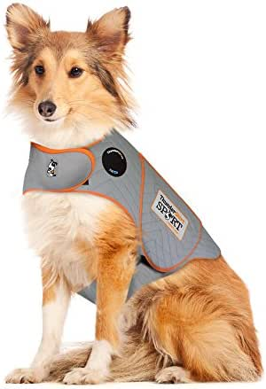 Thundershirt Sport Dog Anxiety Jacket   Vet Recommended Calming Solution Vest for Fireworks, Thunder, Travel, Separation   Platinum, Large