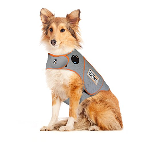 Thundershirt Sport Dog Anxiety Jacket |Vet Recommended Calming Solution Vest for Fireworks, Thunder, Travel, Separation | Platinum, Large