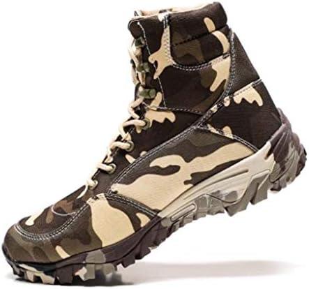 軍事戦術ブーツカモは暖かいハイヘルプレースアップスタイルアサルトブーツ軽量滑り止め耐摩耗ラバーソールをキープ (色 : マルチカラー, サイズ : 26.5 CM)