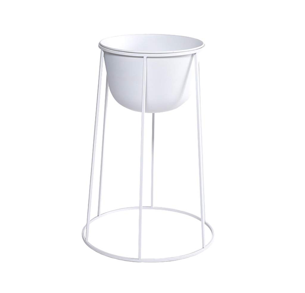 NDD Nordic Flower Stand Black Metal Plant Stand - Indoor Outdoor Home Decor Terrace Flower Stand (Color : B, Size : 414161cm)