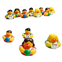 12 Bowling Rubber Ducky Party Favors