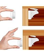 LANGING 10 Stks Baby Proofing Magnetische Sloten met 2 Sleutelset voor Kinderen Veiligheid Geen Gereedschap Vereist Gemakkelijk te installeren