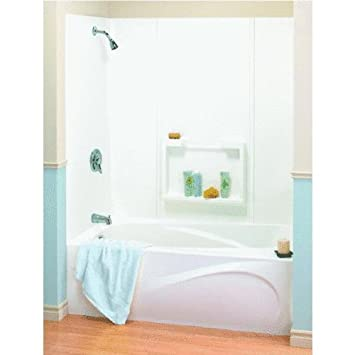 Maax USA Inc   5Pc White Tub Wall Kit