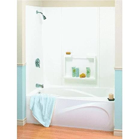 Maax USA Inc - 5Pc White Tub Wall Kit - Bathtub Walls And ...