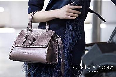 656065d7ee0e7 Plinio Visona Italian Designer Marsala Red Leather Statement Crossbody Bag   Handbags  Amazon.com