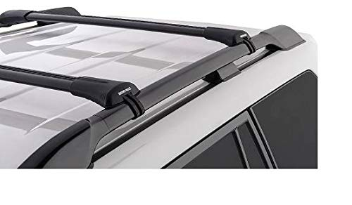 Rhino Rack 08-19 Compatible with Ford Flex Elevated Roof Rails 98-07 Compatible with Toyota Land Cruiser 100 Series Compatible with Lexus LX470 4dr SUV With Roof Rails Vortex StealthBar 2Bar Roof Rack
