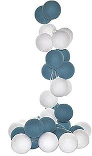 Cordão de Luz Led Mendoza Kit 20 Bolas Cormilu Azul 220V
